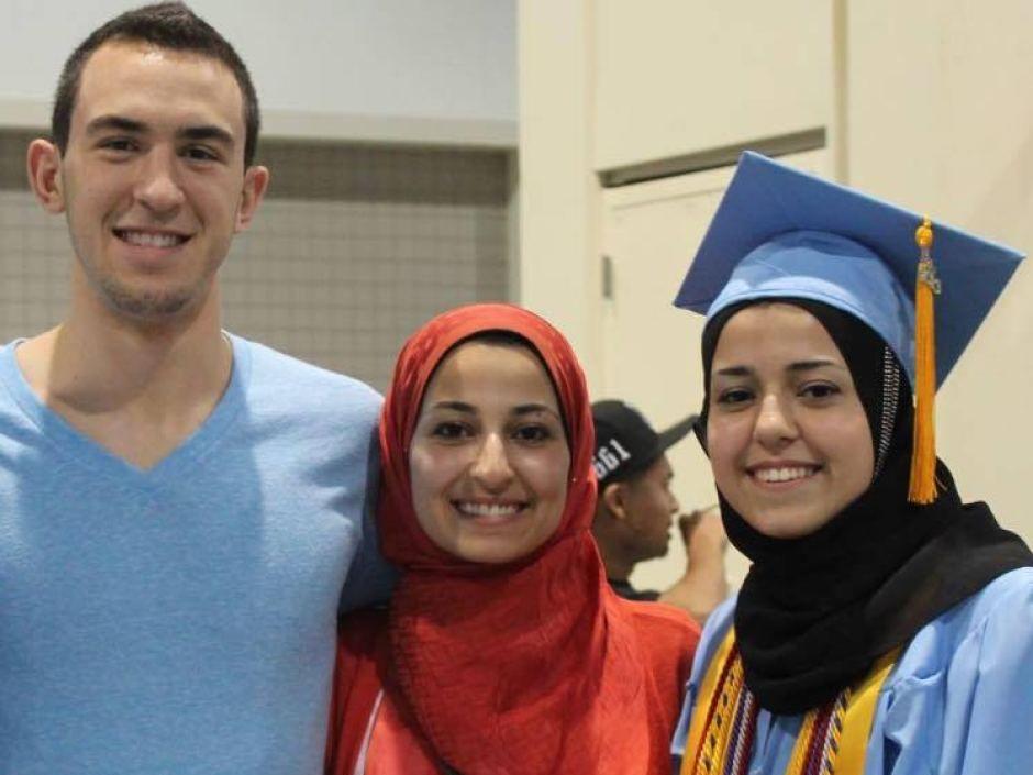 Deah Shaddy Barakat, Yusor Abu-Salha and Razan Abu-Salha were shot by 46-year-old Craig Stephen Hicks.