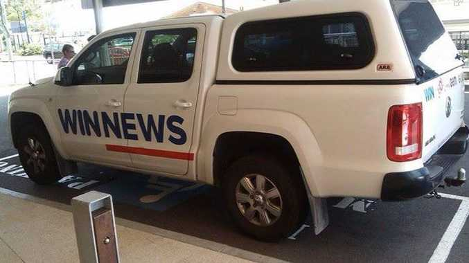 Oh dear, the WIN news team must have missed the memo of what their fellow news teams were covering this week...Photo: Sunshine Coast Crap Parkers