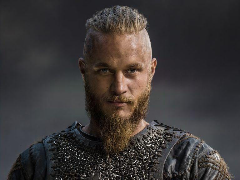 Travis Fimmel as Ragnar Lothbrok in the TV series Vikings.