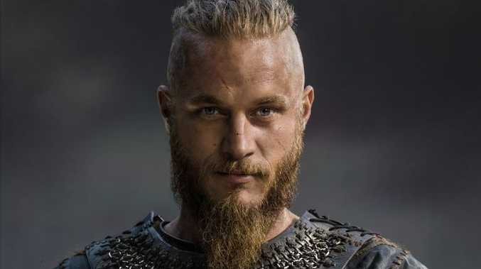 Travis Fimmel as Ragnar Lothbrok in the TV series Vikings.