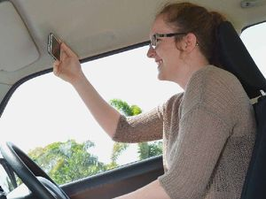Selfie-ish drivers catch themselves in the act