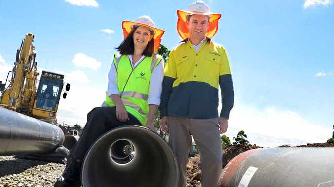 GROWTH PIPELINE: Queensland Urban Utilities is installing almost four kilometres of 600mm wide water mains in Springfield to cater for the population boom and extend the operational life of the network by at least 60 years.