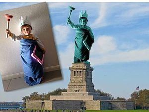Global icon comes to life in daddy-daughter time