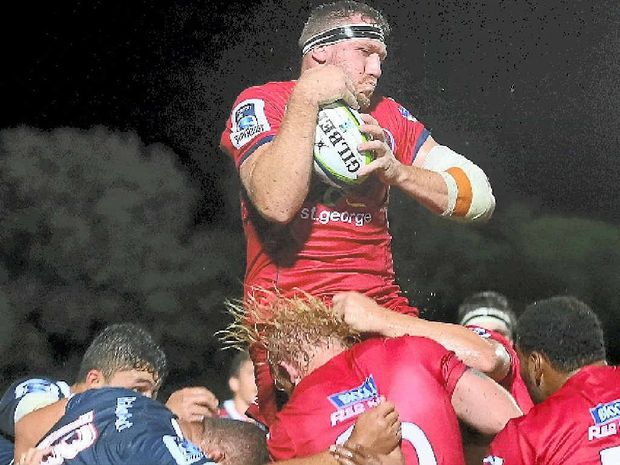 ON THE RISE: Marco Kotze will make his Super Rugby debut for the Reds against the Brumbies tonight.