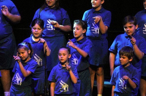 Gladstone West State School Choral Speaking Choir  Photo Chrissy Harris / The Observer