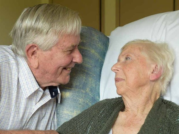 THE LOOK OF LOVE: John and Marianne Parry have been married 54 years.