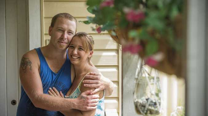 PERFECT DAY: Russell Keedle and Samarra Essex of South Grafton will have every reason to remember their anniversary in years ahead.