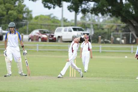 Clarence Jacob Ellis during the under-14 North Coast Cricket Council inter district finals match between Clarence and Coffs at Ellem Oval in Grafton on Sunday, 15th February, 2015. Photo Debrah Novak / The Daily Examiner