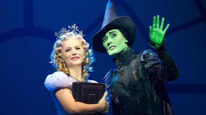 Suzie Mathers and Jemma Rix in Wicked The Musical.