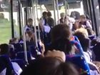 BUS DRAMA: Students react to a bus driver swearing at students.