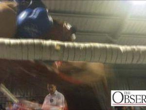 Sam Nicol fights exhibition bout in Gladstone