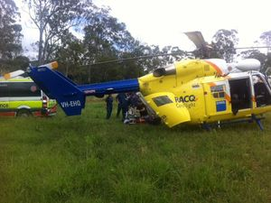 Elderly man flown to hospital after being kicked by cow