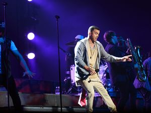 Guy Sebastian playing at the Brisbane Entertainment Centre