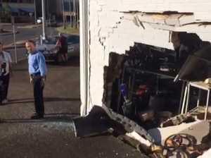 Car smashes into Gympie fiveways shop