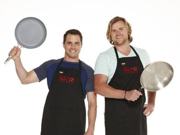 2015 My Kitchen Rules contestants Matt and Rob.