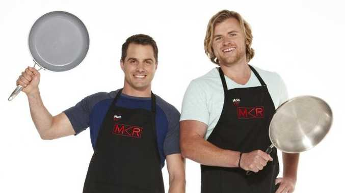 2015 My Kitchen Rules contestants Matt and Rob.
