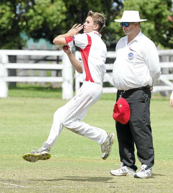 ON SONG: Brendan Cleaver took 10 wickets for South Services in the CRCA Premier League match against GDSC Easts at Ulmarra Showground. PHOTO: DEBRAH NOVAK