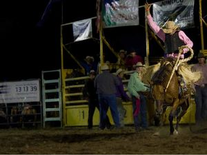 Young gun holds on to win at  Bull and Bronc Rodeo