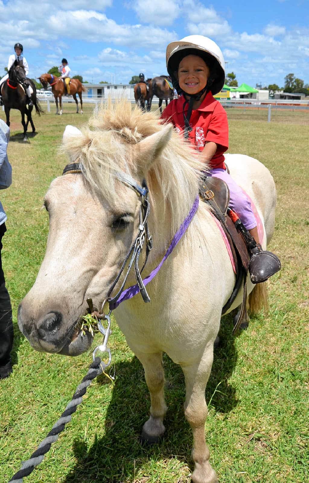 Gabi Newman, 3, from Clifton placed third in the under 7 local rider sporting events.