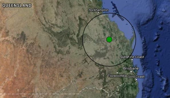 The 5.4 magnitude earthquake's epicentre was at Eidsvold on the Fraser Coast, with potential damage caused within 16km and shudders felt within 160km.