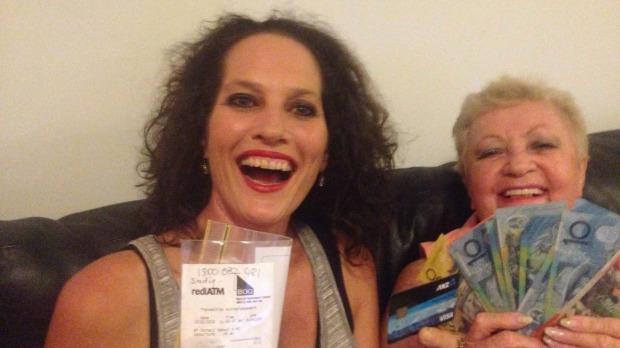 Sue Lamb celebrates her surprise $10 million windfall.