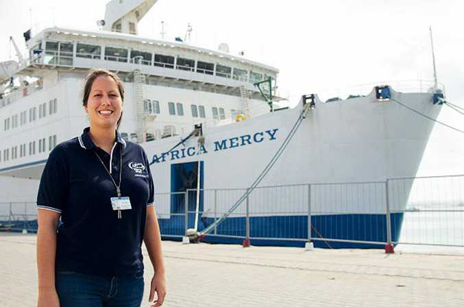 Hillcrest woman Elza Varga has returned after volunteering for 10 months on a Mercy Ship in Africa. Photo:Contributed Michelle Murrey