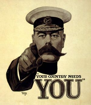 The Kitchener Britons knew was a man of steel, as depicted in this famous Alfred Leete recruiting poster, but he was wavering on the Dardanelles plan.