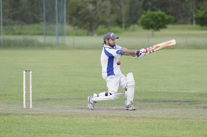Wanderers batsman Michael Eggins in the LCAC cricket match at Barry Watts Oval in Maclean on Saturday. Photo Debrah Novak / The Daily Examiner
