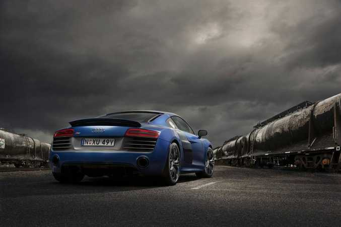 The Audi R8, seen here in coupe-form.