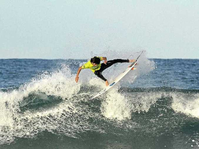 UP HIGH: Jeames Young was a quarter-finalist at the Hunter Business Board Riders Pro Junior . PHOTO: ETHAN SMITH