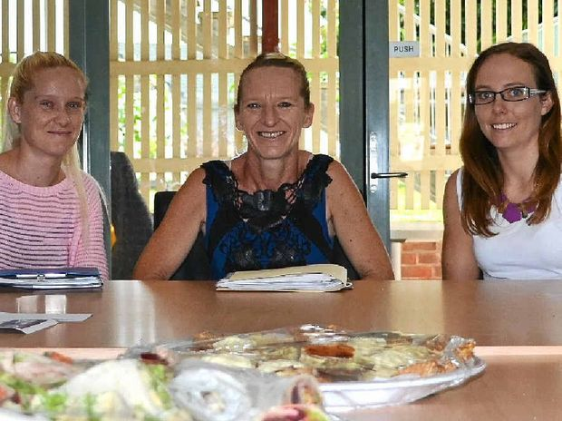 KYOGLE SUPPORT: Mellissa and Molly Smyth of the Kyogle Support Group with Nicole Sherman of Northcott Disability Support want to help carers and people with any form of disability to find the services they need.