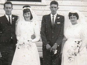 It was a double wedding, now it's a double 50th anniversary