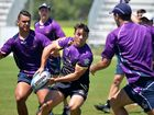 Cooper Cronk from the Melbourne Storm training at Stockland Park. Photo: Warren Lynam / Sunshine Coast Daily