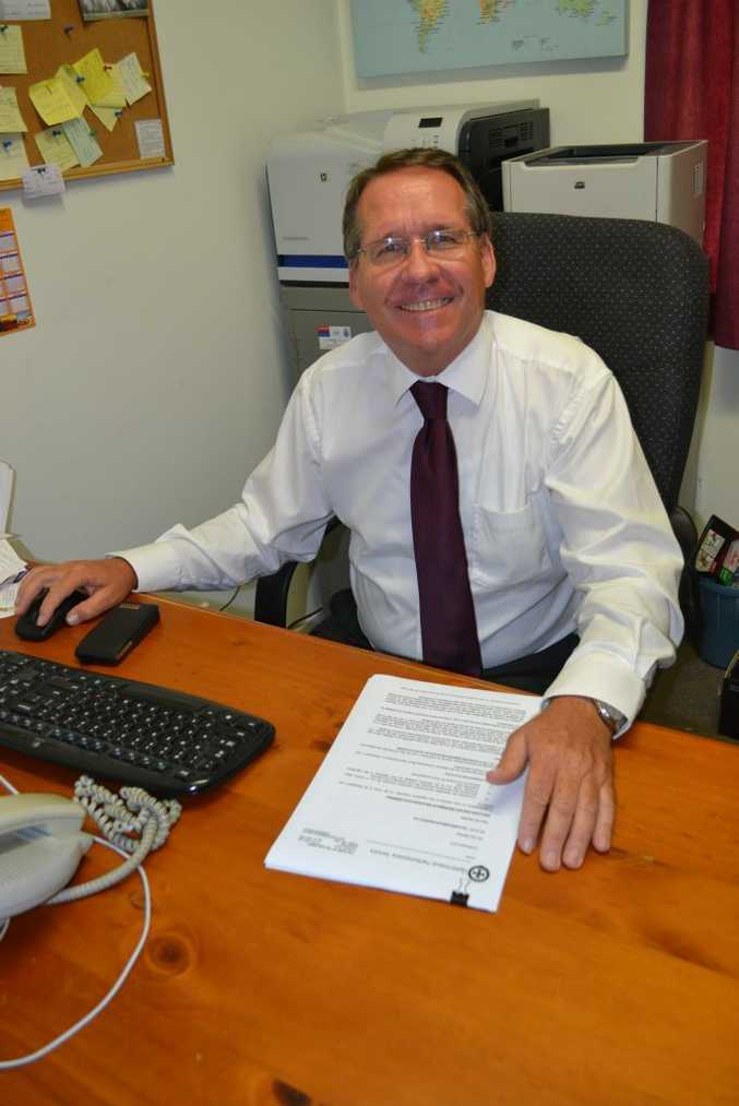 Newly elected Ipswich West MP Jim Madden ready for his first day at the office Photo Gary Worrall / Gatton Star