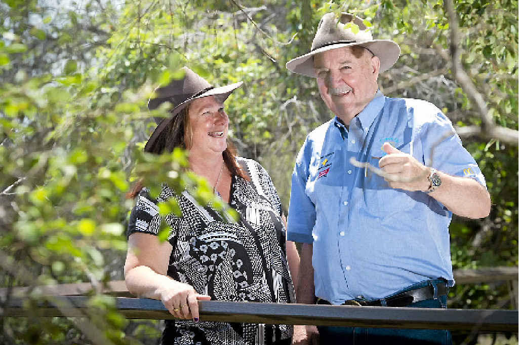 BIG HELP: Joann Burns was thanked for her 25 years of participation in Clean Up Australia Day by chairman Ian Kiernan.