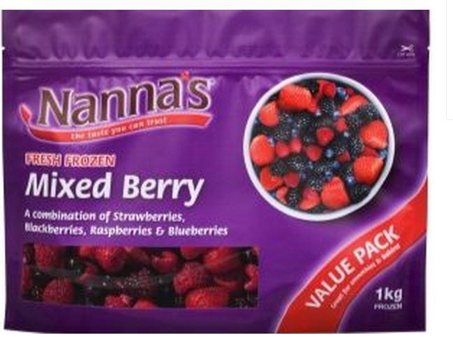 The Nannas mixed berry mix.