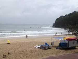 Noosa surf before the storm