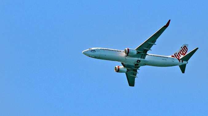 A Virgin Airline heads into Maroochydore airport. Photo: John McCutcheon / Sunshine Coast Daily