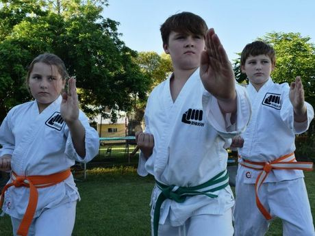 KARATE KIDS: Shyanne Wilkinson, George Shaw and David Wilkinson are headed to Las Vegas for a World Tournament in April. See the story for how you can help get them there.
