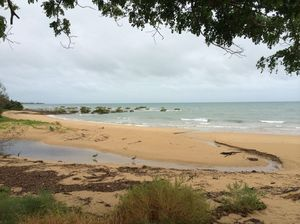 Overcast, windy in Hervey Bay