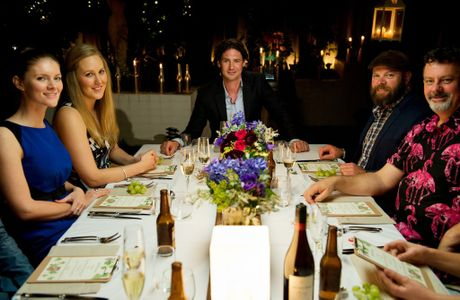 My Kitchen Rules judge Colin Fassnidge pictured during his first instant restaurant in Perth.