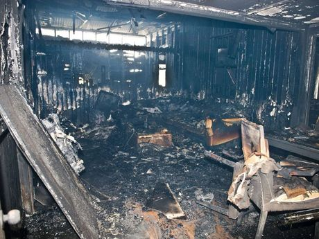 Fire has completely gutted a family's home at Pittsworth.