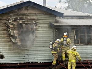 House fire at Springside