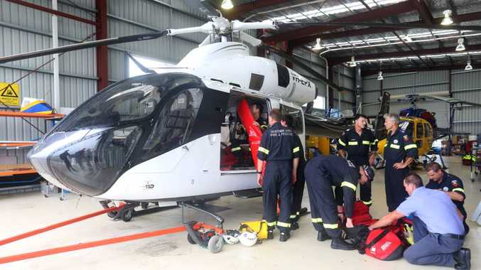 Swift water rescue team gets prepared for Cyclone Marcia to hit the Sunshine Coast with a large amount of rain predicted. Photo: Nicola Brander / Sunshine Coast Daily