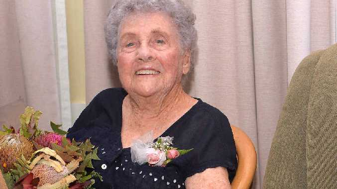 Elsie Ollett celebrating her 100th birthday.