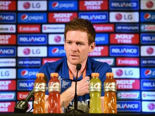 England cricket captain Eoin Morgan speaks at a press conference ahead of the Cricket World Cup in Sydney on February 7, 2015. The 2015 Cricket World Cup will be jointly hosted by Australia and New Zealand from February 14 to March 29 2015.