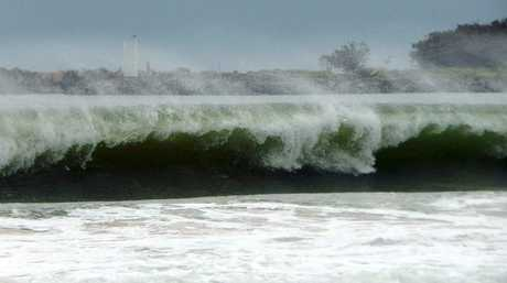 The big surf at Mooloolaba ahead of Cyclone Marcia. Photo: Willis Stinger / Facebook