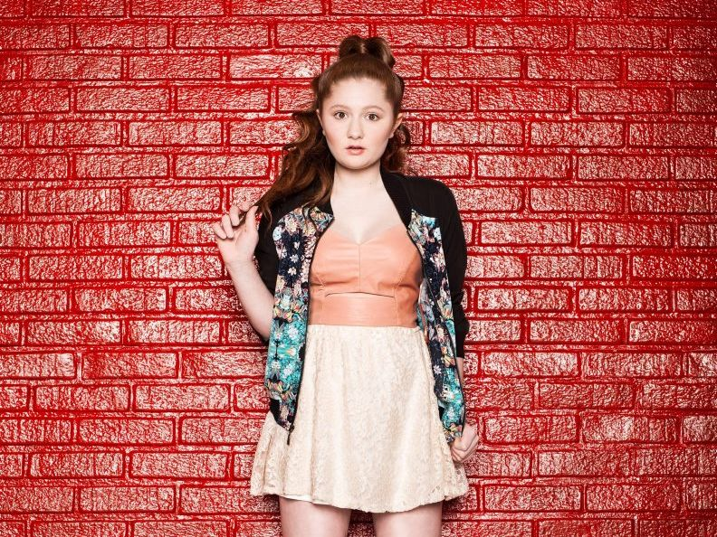 Emma Kenney stars in the TV series Shameless.