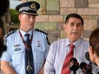 STORM UPDATE: Inspector Kev Guteridge and Mayor Mal Forman give an update on the progress of cyclone Marcia. Photo: Mike Knott / NewsMail