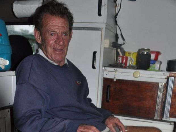 Michael Love and Sas are waiting out Cyclone Marcia in their camper van.